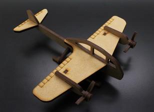 Bombardeiro de lutador militar Modelo de madeira cortado a laser (KIT)