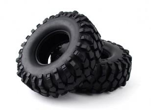 """1/10 Escala 1.9 """"Crawler Tire / KRT sólido com inserção (2pcs)"""