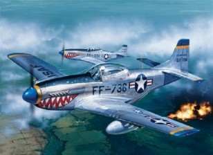 Italeri escala 1/72 Kit P-51D Mustang Modelo plástico