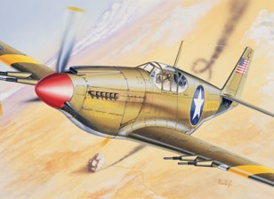 Italeri 1/72 Scale P-51 Mustang Kit Plastic Modelo