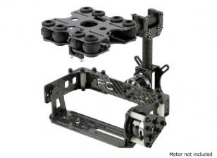 Absorção de choque Kit 2 Axis Brushless Gimbal para o cartão Câmeras Tipo - Fibra de Carbono Versão