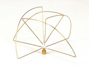 900Mhz Circular polarizada antena do receptor (RP-SMA) (LHCP) (Short)