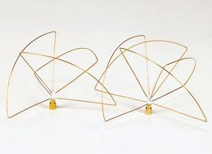 900Mhz Circular polarizada Antena Set (RP-SMA) (LHCP) (Short)