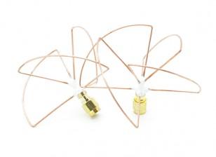 2.4GHz Circular polarizada antena SMA (Set) (Short)