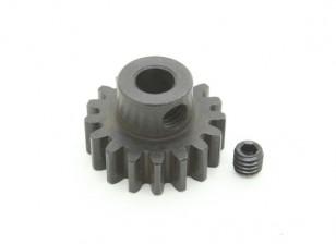 17T / 5 mm M1 Hardened pinhão Steel (1pc)