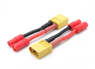 XT60 para HXT 3,5 milímetros conector do adaptador de bateria (compatível com Walkera QR X350) (2pcs / bag)