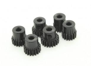 Pinhão aço temperado Set 48P para caber 3,175 milímetros Shaft (15/16/17/18/19 / 20T)