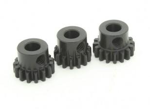 Aço temperado Pinhão Set 32P para caber 5 milímetros Shaft (14/15 / 16T)