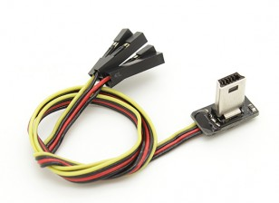 Super Slim GoPro 3 cabo de vídeo e levar energia Para FPV