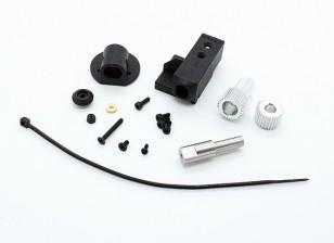 RotorBits Servo Mount Set w / engrenagem (Black)