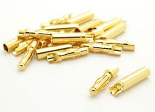 4mm fáceis de solda de ouro Conectores (10 pares)