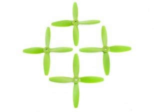 Lumenier FPV Corrida Hélices 5040 4-Blade Green (CW / CCW) (2 pares)