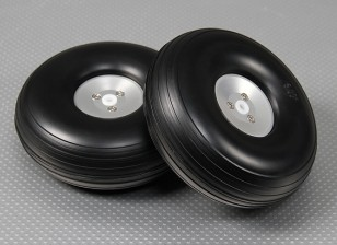 126 milímetros (5 polegadas) Leve liga Scale Conjunto da roda (2pc)