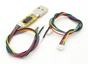 USB FTDI Flash Stick para Micro e Mini MWC controlador de vôo com cabos (multi Wii)