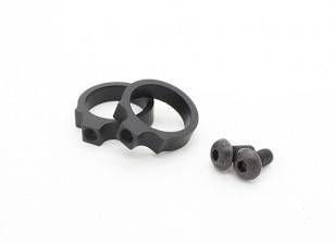 Elemento EX313 LR Tactical Flashlight Mount anéis 0,76 polegadas (Black, 2pcs / pack)
