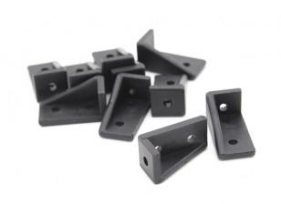 RotorBits 20x10 Right Angle Bracket RH (Black) (10pcs / saco)