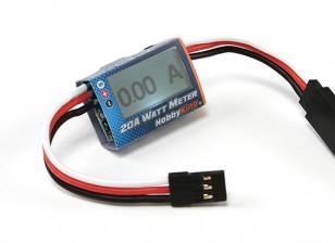 HobbyKing ™ Compact 20A Watt Meter e Servo Analisador de Potência