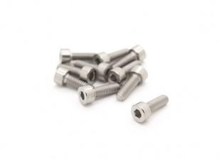 Titanium M4 x 12 Sockethead Hex Parafuso (10pcs / saco)