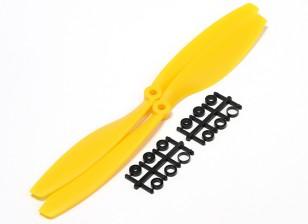 Turnigy Slowfly Hélice 10x4.5 Amarelo (CCW) (2pcs)
