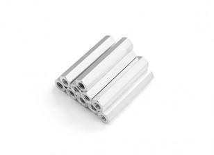 Leve de alumínio Hex Seção Spacer M3 x 26 milímetros (10pcs / set)