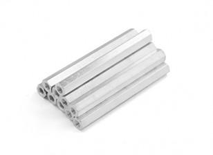 Leve de alumínio Hex Seção Spacer M3 x 45 milímetros (10pcs / set)