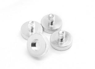 1/4 de polegada liga de alumínio da câmera parafusos de montagem D19 (4pcs / set)