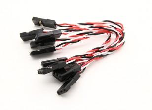 Super Flex 26AWG Silicone Servo Leads para a transferência de vibração mínima ao FC (JR) 5pcs 80mm / bag