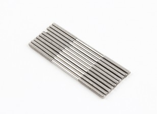 Empurre hastes de aço inoxidável M2x45mm (LH & RH rosca) (10pcs)