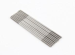 Empurre hastes de aço inoxidável M2x65mm (LH & RH rosca) (10pcs)