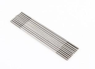Empurre hastes de aço inoxidável M2x75mm (LH & RH rosca) (10pcs)