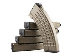 Rei de Armas 600rounds revistas Padrão Waffle para Marui AK AEG (Terra Preta, 5pcs / box)