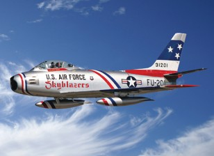 "Italeri 1/48 Escala F-86F Sabre Jet ""Skyblazers"" Kit Plastic Modelo"