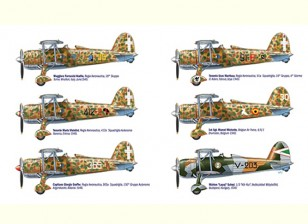 Italeri escala 1/48 Kit Fiat CR.42 Falco Aces Plastic Modelo