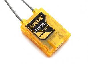 OrangeRx R110XL DSMX / DSM2 receptor de satélite compatível.