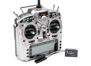 FrSky 2.4GHz ACCST TARANIS X9D PLUS e X8R Combo Sistema Digital Radio Telemetry (Modo 1)
