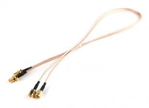 RP-SMA plug <-> RP-SMA Jack 500 milímetros RG316 Extensão (2pcs / set)