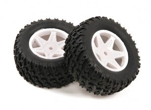 H-King Sand Storm 1/12 2WD Desert Buggy - Tire completa Rear Set (2pcs)