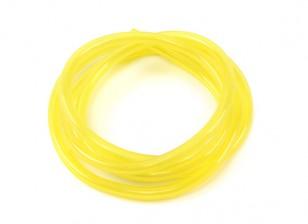 Amarelo Silicone combustível da tubulação 2,5 milímetros x 1mtr (Adequado para Nitro & Gas Engines)