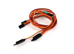 Asa Servo Connector 2xMale / 2xFemale JR com D-0953 Comprimento MPX 700 milímetros (2 Pieces)