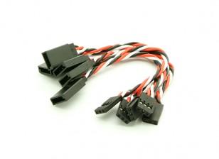 10 centímetros Futaba 22AWG trançado de fios de extensão M para 5pcs F