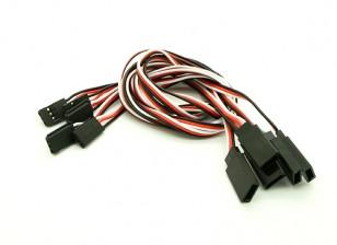 40 centímetros Futaba 26AWG reta cabo de extensão M para 5pcs F