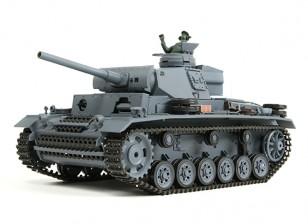 Panzer III Ausf.L (Grey) RC Tanque RTR w / Airsoft & Tx (plug UE) (Warehouse UE)