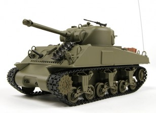 US-M4A3 Sherman Médio RC Tanque RTR w / Tx (Warehouse UE)