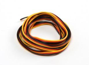 22AWG Servo fio 2mtr (vermelho / preto / amarelo)