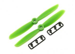 Gemfan 5045 GRP / Nylon Hélices CW / CCW Set (verde) 5 x 4,5