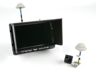 """Quanum FPV 5.8Ghz transmissor AV, 7 """"HD 5.8Ghz Monitor / Diversidade receptor e Camera Bundle Set"""