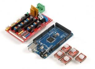 Impressora 3D Control Board Kit 2560 R3 controle mestre além de rampas 1,4 plus4988 unidade (com fin de refrigeração)