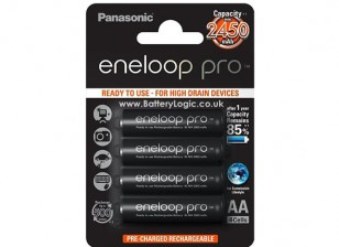 Panasonic Eneloop Pro bateria AA 2450mAh NiMH (4 Pack)