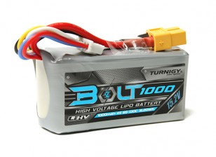 Turnigy Parafuso 1000mAh 4S 15.2V 65 ~ 130C High Voltage Lipoly Pack (LiHV)