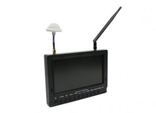 7 polegadas 800 x 480 40CH Diversidade Receiver Sun legível FPV Monitor de FieldView 777SB (plug EUA)